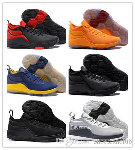 promo code e92bf f4102 Acheter Pas Cher Nouveaux Hommes Lebron Témoin 2 II Chaussures De Basket  Enfants Chaussures Noir Rouge Blanc Armée Gris Gris Gros James 23 Baskets  De  35.53 ...