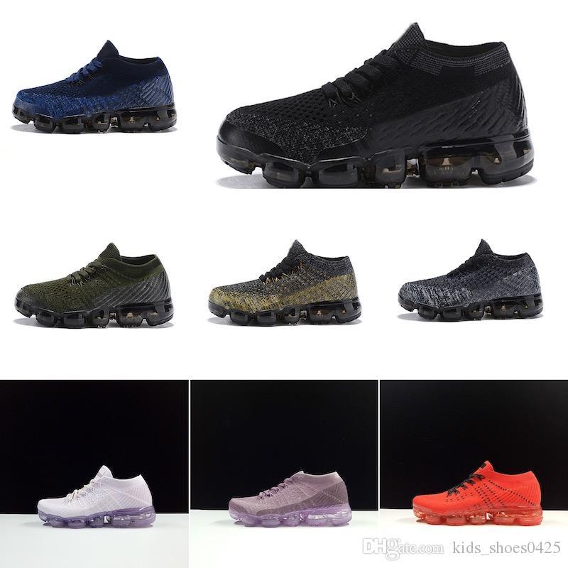 Nike air max 2018 chaude Enfants Chaussures 2018 Course Chaussures Enfants Athlétique Chaussures Garçon Fille Formation Baskets De Sport Noir Blanc