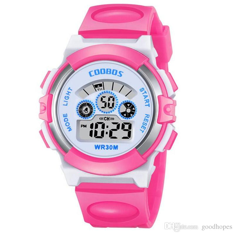 Kids Watches Waterproof Children Boys Student Waterproof Sports Watch Led Digital Date Wristwatch Select Gift For Kid Traveling Children's Watches