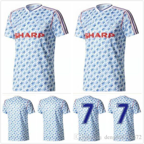 new product 432e2 6ce6f 1990 1992 MANCHESTER retro soccer jerseys Robson Hughes McClair UNITED away  FOOTBALL SHIRT 90 92 Vintage MAN UTD Camiseta Sharpe Paul Ince