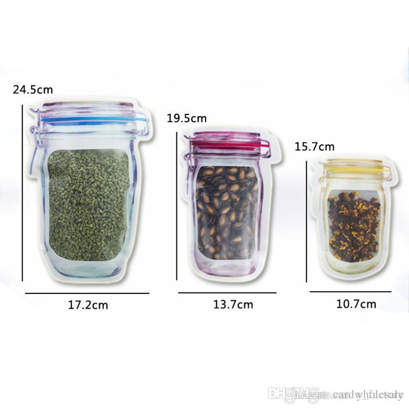 Reusable Mason Zipper Jar Storage Pouch Bags