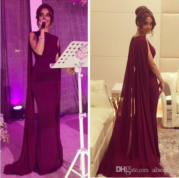 9a04a8cbd1 2018 Vintage Red Carpet Celebrity Dresses With Long Chiffon Cape Wrap  Arabic Pakistani Party Dresses Prom Evening Gowns Custom Made Evening Maxi  Dresses Uk ...