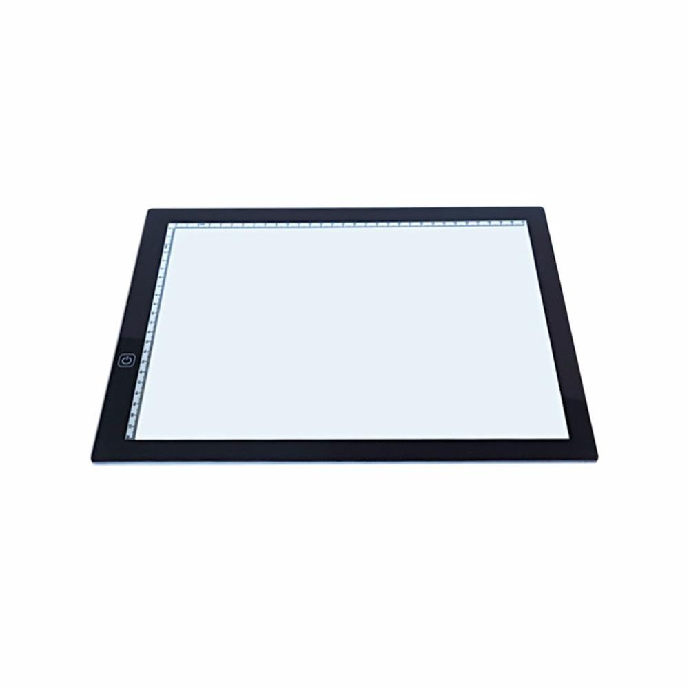 Portable A3 Led Light Pad Box Drawing Copy Board Drafting Graphics Tablet Table Pad Panel Pad Copy Board With Brightness Control Computer Cleaners