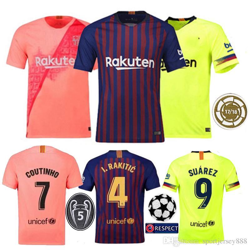 437a14803d 2019 2018 19 Thailand Messi Soccer Jersey Barcelona Camiseta De Futbol  Coutinho Football Shirt SUAREZ De Futebol Dembele Maillot De Foot From  Sportjersey888 ...