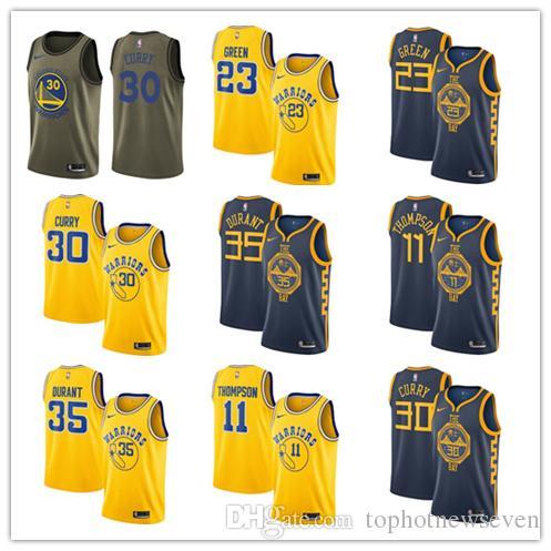 super popular e7d04 f49cb Stephen Curry Kevin Durant Warriors Hardwood Swingman basketball City  Classics Jersey Edition