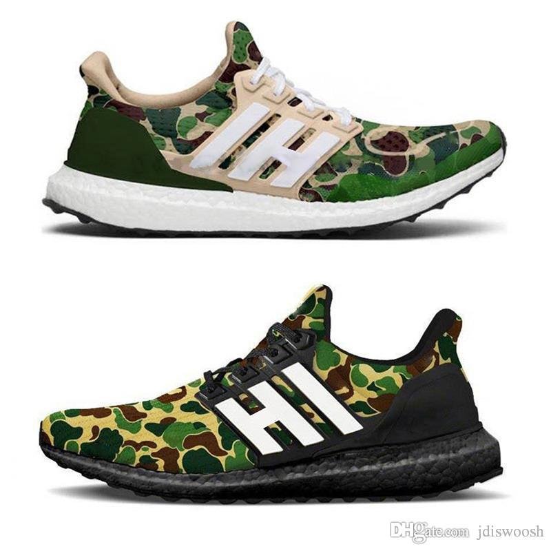 e6c1a67bb6d1a 2019 New Ape Ultra Boost 4.0 Camo Grey Black White Ultraboost 4.0 Running  Shoes Men Women UB Trainers Sports Athletic Sneakers Size 5 11 From  Jdiswoosh, ...