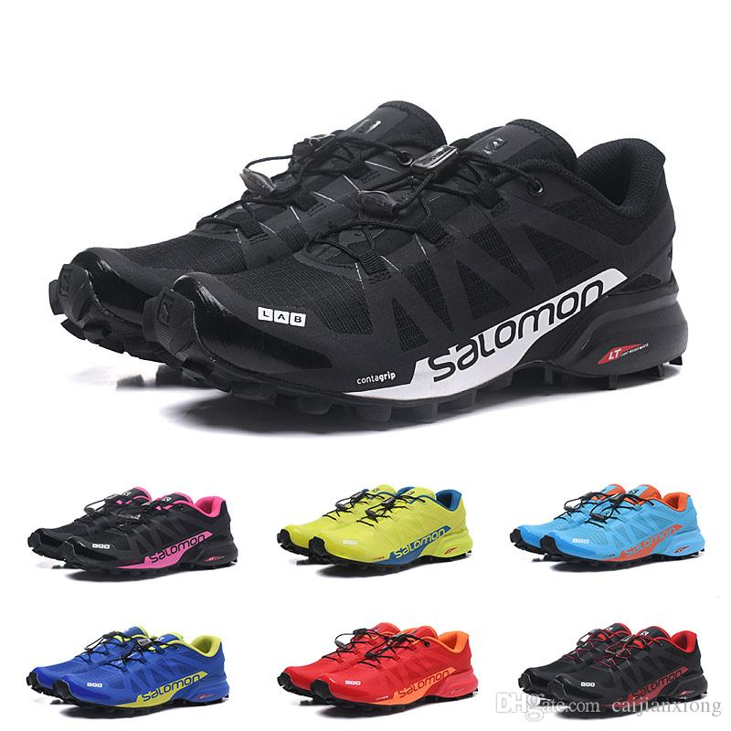 grossiste a9aeb 54cfa 2019 New Designer Salomon SPEED CROSS PRO 2 Mens Women Running Shoes High  Quality Outdoor Walking Sports Trainer Athletic Shoe
