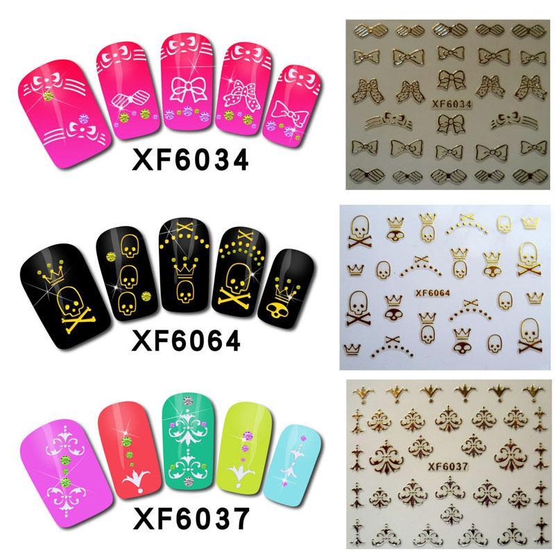 Rakado New 3D Nail Stickers Gold Plated Design Series Tip Nail Art ...