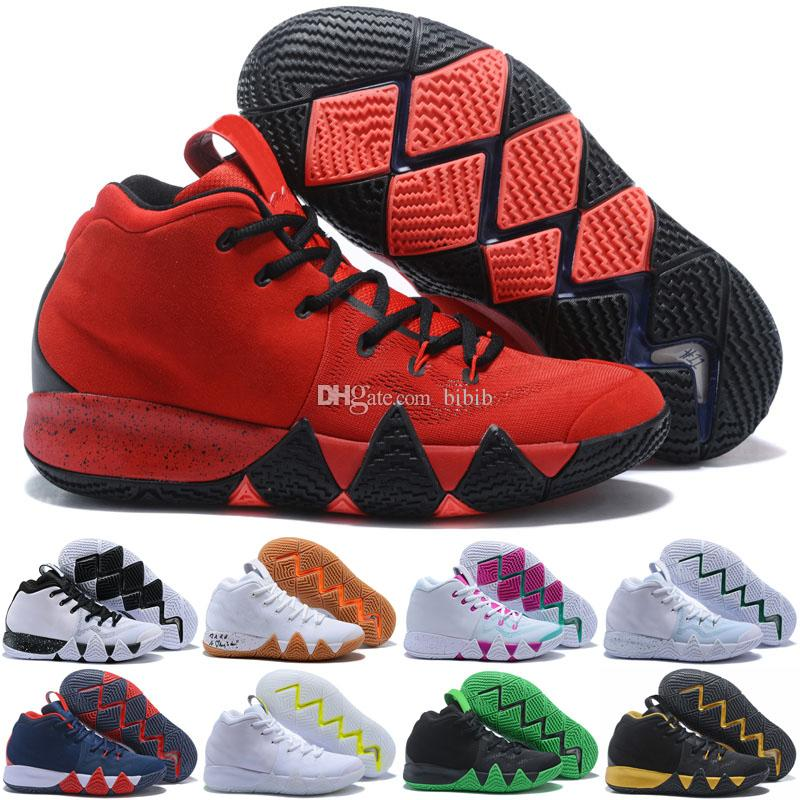 huge discount 2373c e40ad Kyrie IV Lucky Charms Men 4s Kids Basketball Shoes Top Quality 4 Confetti  Color Green Designer Trainers Sneakers