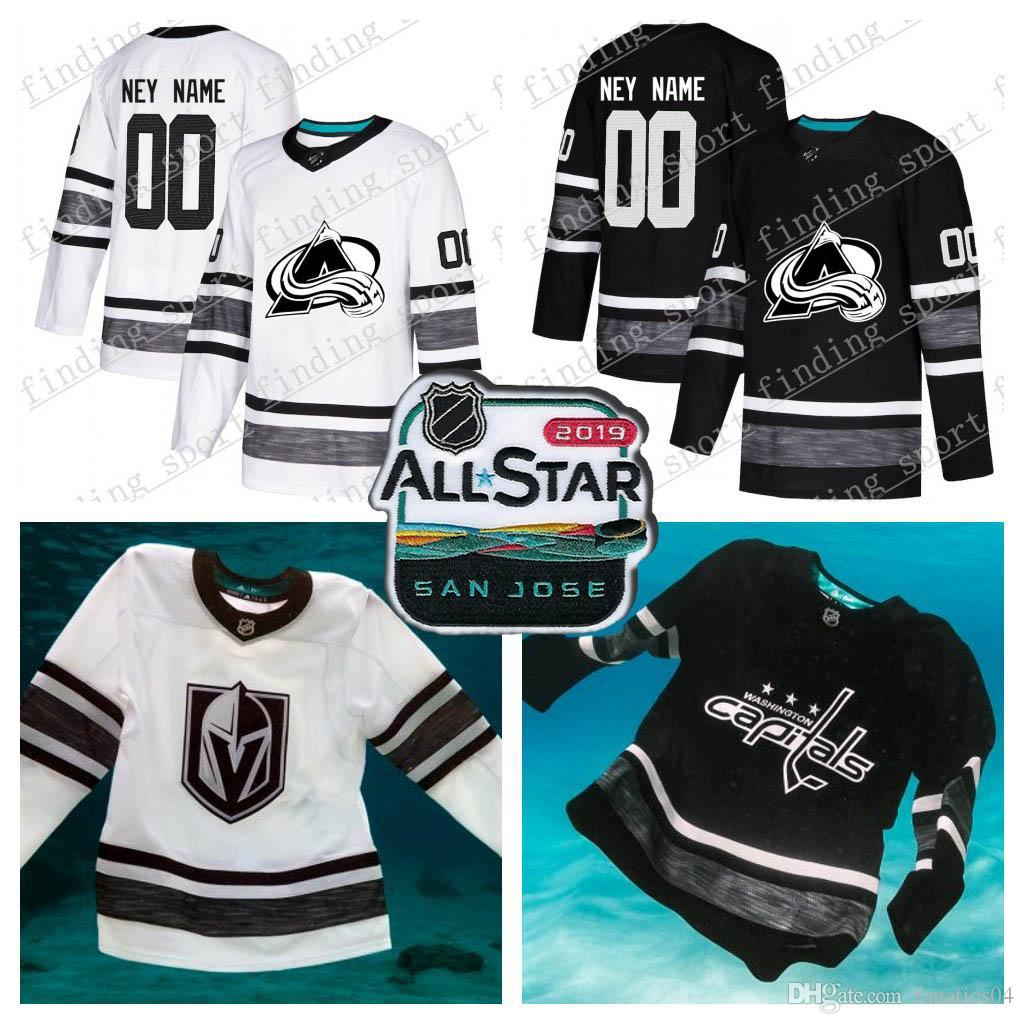 new products fbab8 138b1 Customized men women Youth Colorado Avalanche 2019 All-Star Game Parley  Authentic Hockey Jersey white Black 29 MacKinnon 92 Landeskog