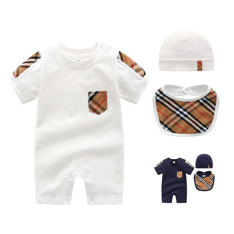 4 stilleri 3 parçalı / set Yenidoğan bebek elbise uzun kollu tırmanma elbise kız 0-2 yaşında sonbahar erkek bebek bebek giysileri yeni doğan giysi