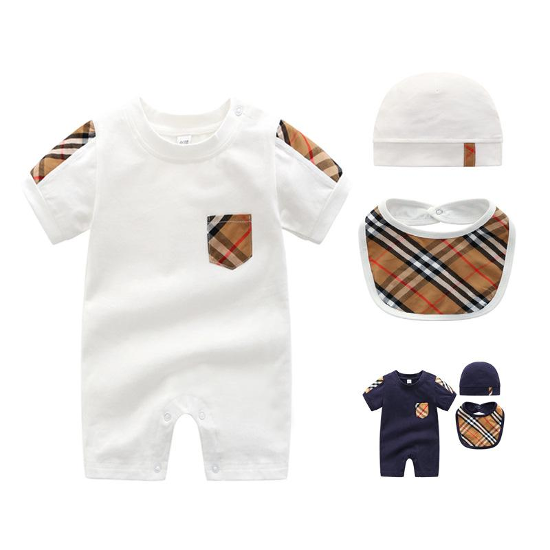 4 styles 3-pieceNewborn baby suit long-sleeved climbing suit girl 0-2 years old autumn baby boy baby clothes newborn clothes