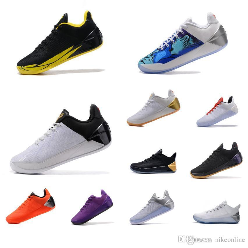 7bfe2d39aad 2019 Cheap Men What The Kobe AD 12 Elite Low Cut Basketball Shoes BHM Black  Mamba Gold Red Purple Floral Flower KB Sneakers Boots Tennis For Sale From  ...