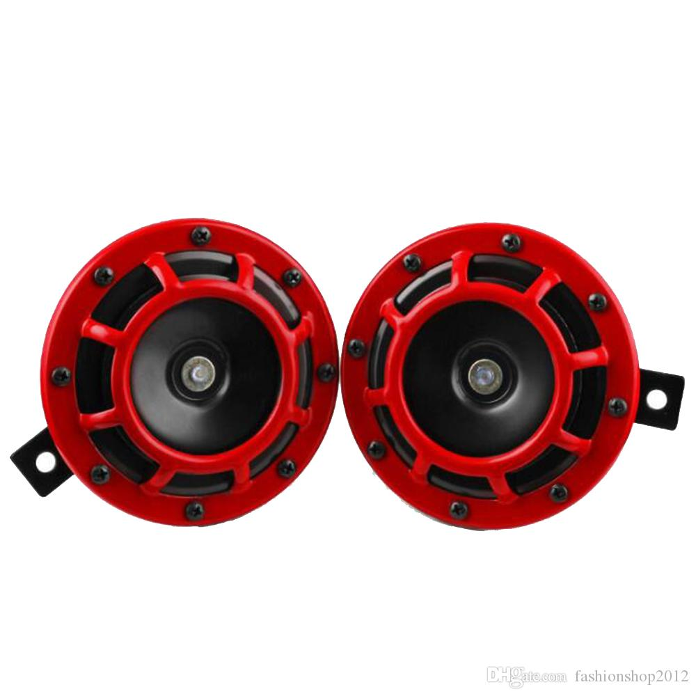 2 Pieces Compact Electric Loud Blast 12V Grille Mount Super Tone Horn on