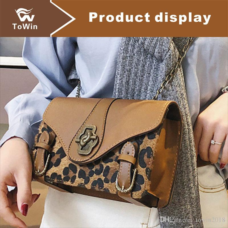 Brand Retro Women Handbag Leopard Print Luxury Designer Composite Bags Lady Clutch Bag Chain Shoulder Bag Tote Female Flap Bags Purse Wallet
