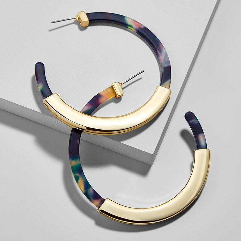 Fashion Bohemia Acrylic Acetate Hoop Earrings for Women Vintage ... bace4e8ea354