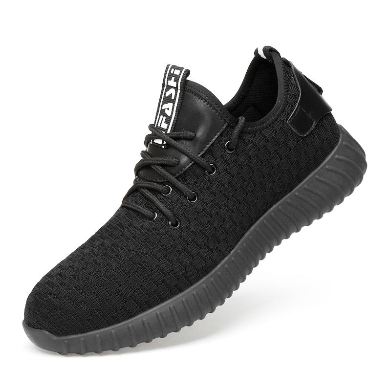 7559c61d8a Safety Shoes Men's Steel Toe Lightweight Anti-smashing breathable  comfortable wear-resisting Unisex Work Sneakers