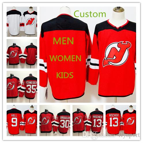 2fd5dc7df Custom NEW JERSEY DEVILS Stanley Cup MEN WOMEN KIDS Any Name Number 9  Taylor Hall 13 Nico Hischier 30 Martin Brodeur Hockey Jersey Custom Taylor  Hall Nico ...