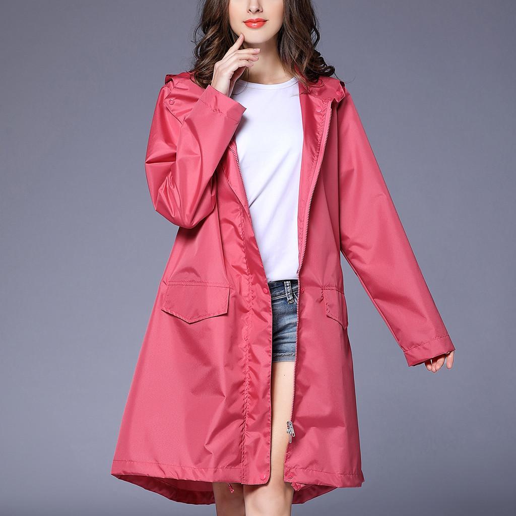 96e34b638a2 Fashion Long Coat Women S Rain Jacket Outdoor Waterproof Windproof Coat  Outwear Women Windbreaker Bomber Jackets Rain Jackets From Chencloth66