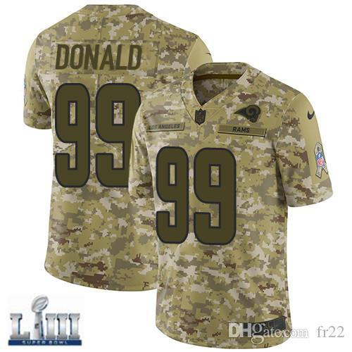Todd Gurley II Rams Jersey Pro Super Bowl LIII Aaron Donald Jared ... 84d0a807e