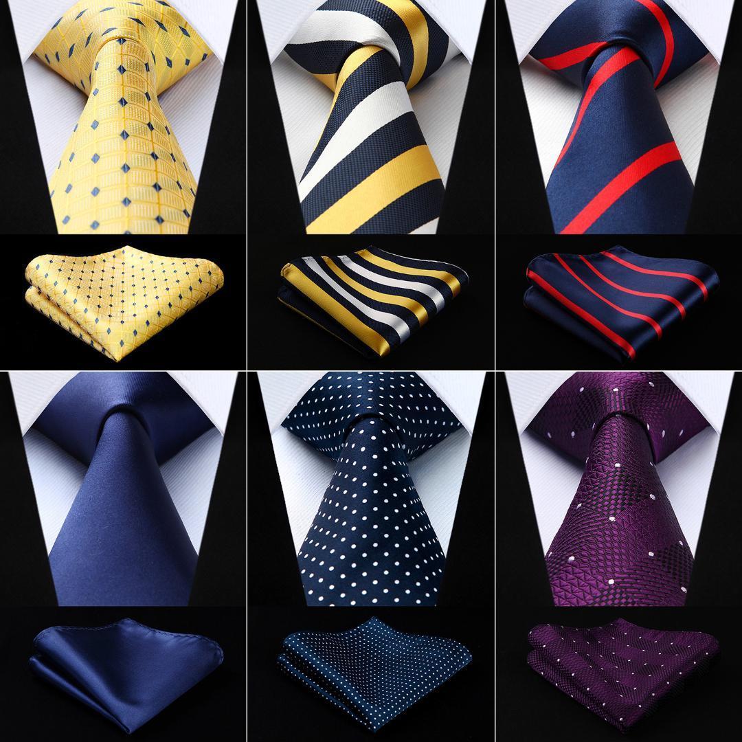 670e893b58ffc Acheter Hisdern Polka Dot Solid 3.4 Soie Mens Cravate Extra Long Cravate  Mouchoir Set # Q9 Pochette De Mode Classique Partie De Mariage De $42.52 Du  ...