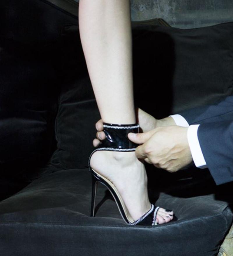 b0f015513a33 2019 Hot Sale PU Leather Women S Platform Sandals Stilettos High Heels  Woman Female Sexy Ladies Sandals Shoes Party Dress Black Wedding Sandals  Walking ...