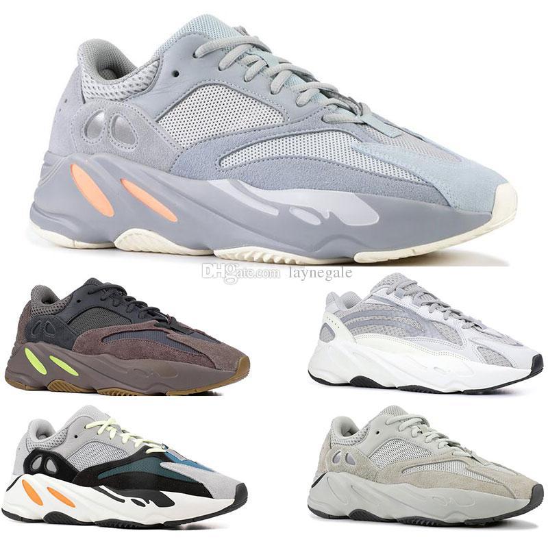 80b62ee36b Compre Adidas Yeezy 700 Boost Barato INERTIA 700 Static 3M Piel De Pez 700  Wave Runner Para Hombre Mujer Corriendo Zapatos Al Aire Libre Zapatillas De  ...