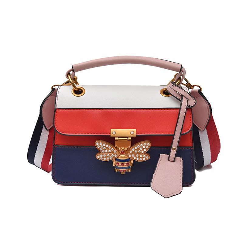 e3e042d4c5 New Luxury Crossbody Bag Women Colorful Splicing Little Bee Bags Designer  Handbag Female Shoulder Bags Messenger White Black Bag Fashion Bags Designer  ...