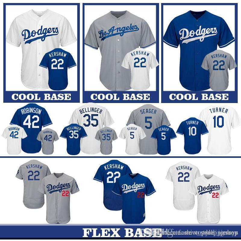 super popular 1fc45 6f4a8 Dodgers 22 Clayton Kershaw Los Angeles 8 Manny Machado 5 Corey Seager 23  Adrian Gonzalez 10 Justin Turner Chris Taylor Baseball Jersey