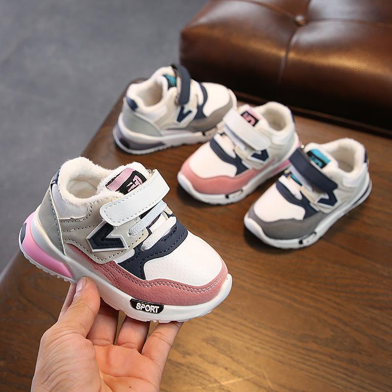Winter Girls Boys Cotton Atheltic Shoes Sports High Top Kids Running Sneakers