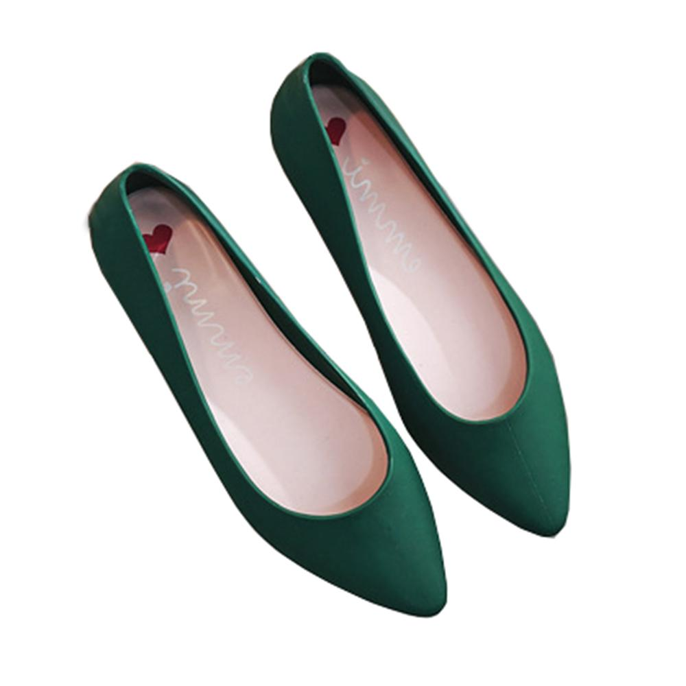 Imprimé Ballerines Shoes Classique Toe Imperméable Slip Jelly Plage Femmes Chaussures Été On Confortable Marche Ballet 0mN8wn