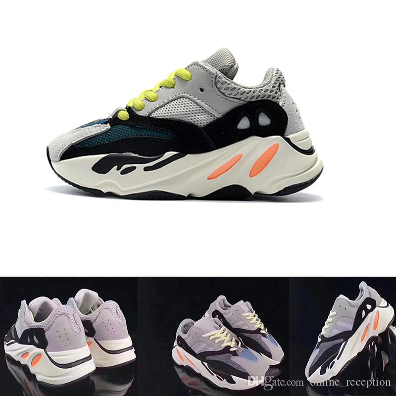 772fd7b66 Wave Runner 700 Kanye West Running Shoes Kids Trainer Sneaker 700 Sport Shoe  Children Athletic Shoes Grey Black Blue Best Trail Running Shoes The Best  ...