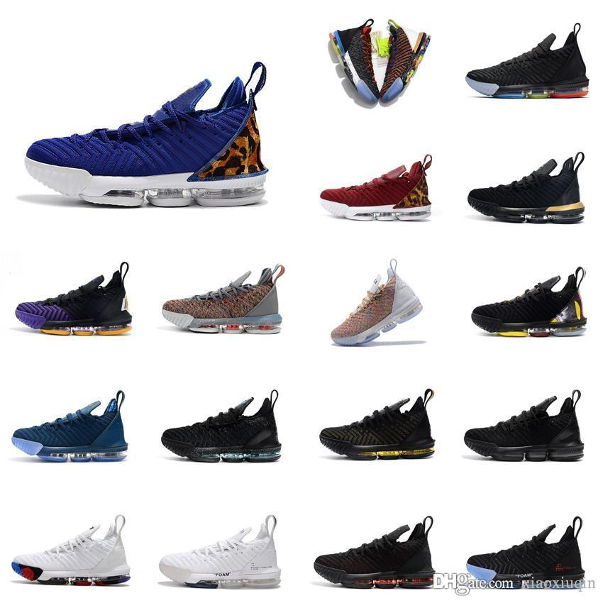 online store 6e500 776ba 2019 Cheap Mens Lebron 16 Basketball Shoes For Sale Foams White Black Grey  Multi Purple Blue Youth Kids Sneakers Tennis With Box From Xiaoxiuqin, ...