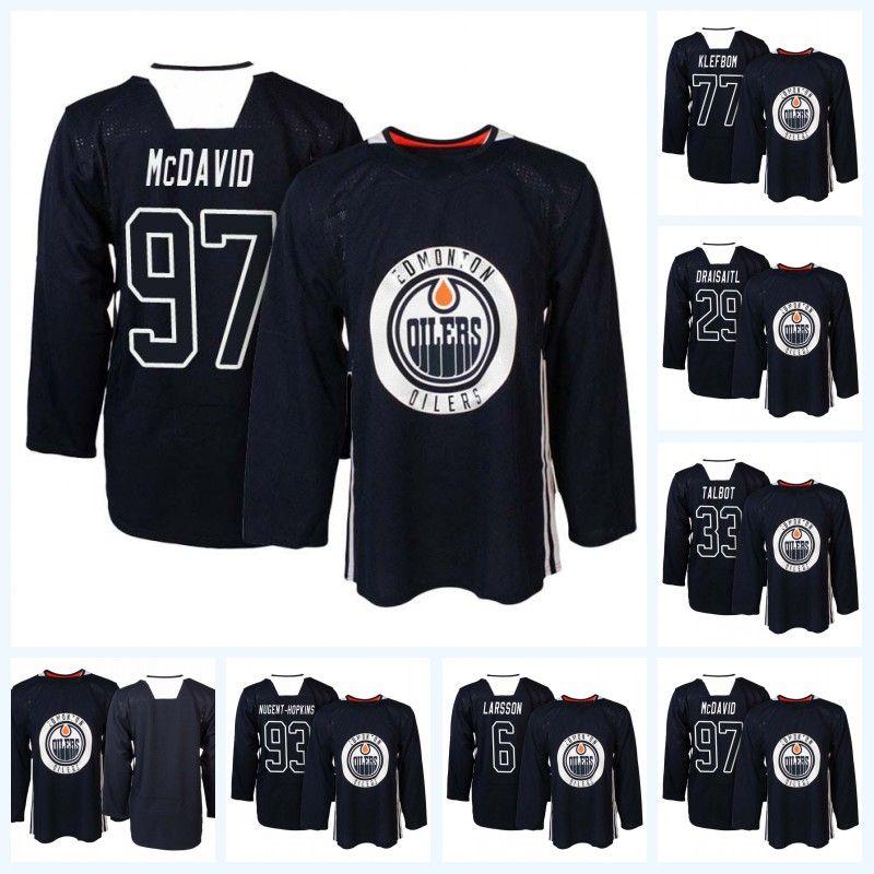 2019 97 McDavid Edmonton Oilers Navy Practice Jersey 83 Matthew Benning 27  Milan Lucic 33 Talbot Leon Draisaitl 44 Zack Kassian 25 Darnell Nurse From  ... 1ccc5ba058d
