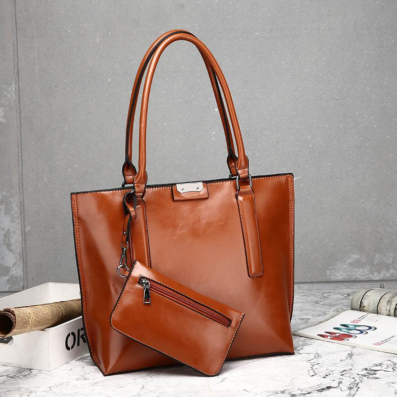 Luxury Solid Color Women Handbag+Mini Purse Vintage Ladies Crossbody Tote  Classical Style Female Sac A Main Shoulder Bag Over The Shoulder Bags Hobo  ... f4ec76b287dd7