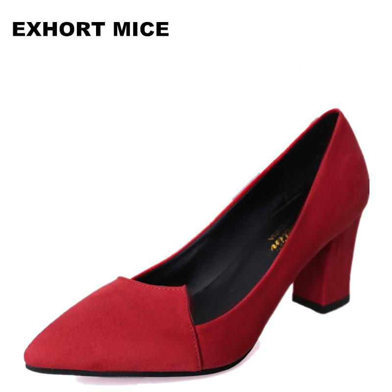 2019 2018 Women Pumps Ankle Strap Thick Heel Women Shoes Square Toe Mid  Heels Dress Work Comfortable Ladies Shoes Rough With 7 Cm  1 Loafer Shoes  Shoes Uk ... a95dc5fd8ae2