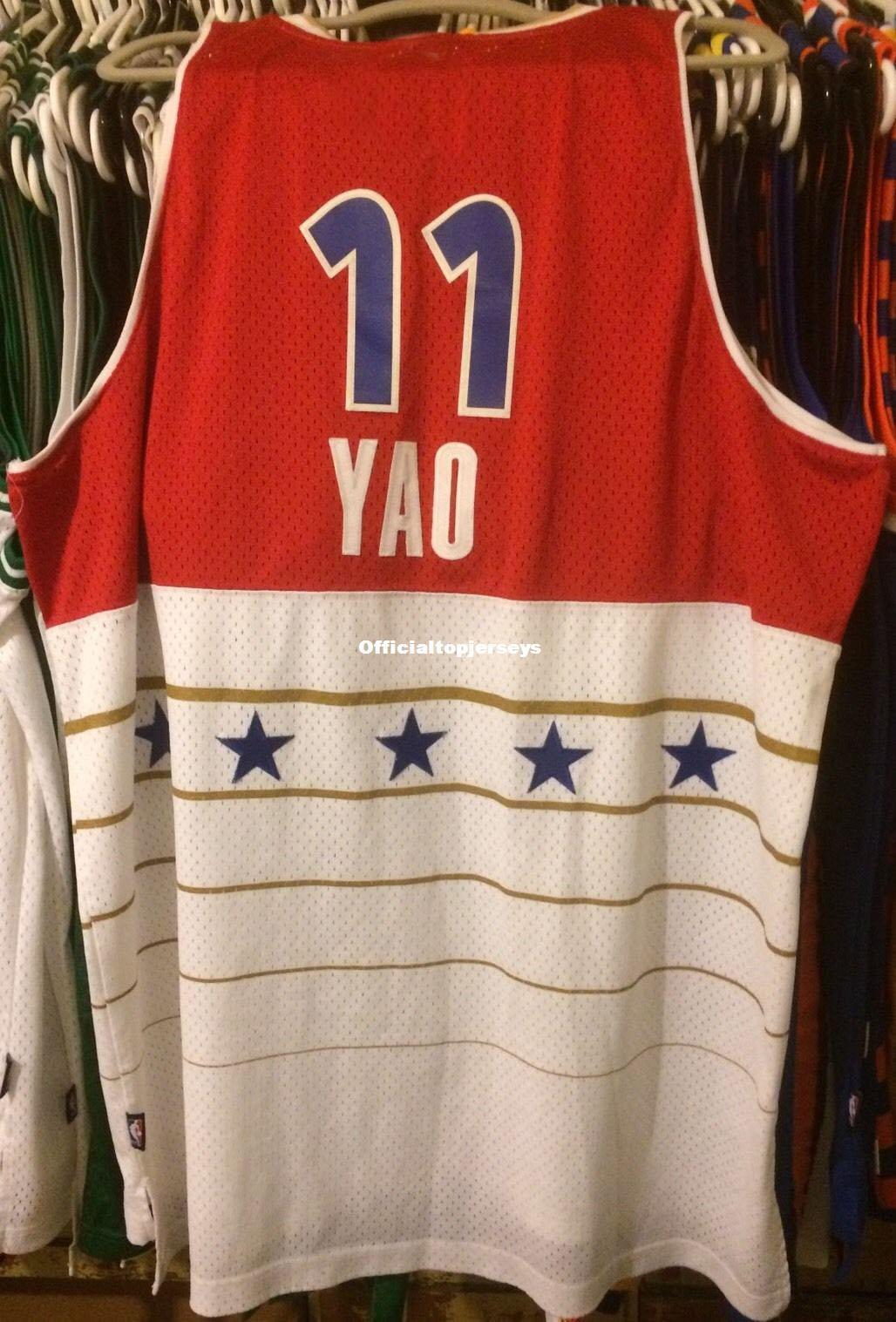 best sneakers a2c64 62d73 Cheap wholesale Yao Ming All Star Jersey 2006 RB Sewn McGrady #11 T-shirt  vest Stitched Basketball jerseys Ncaa