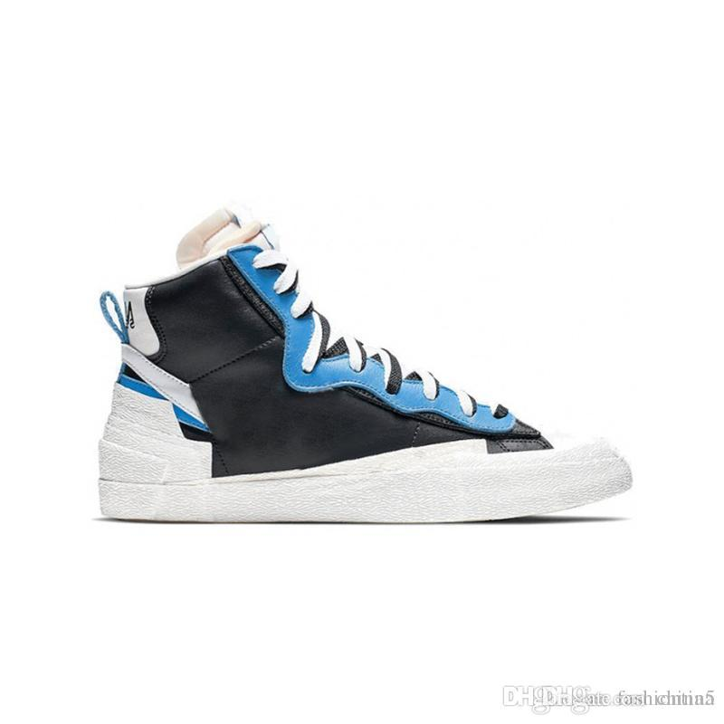 46e8210d 2019 2019 Hot Release Originals Blazer High X Sacai White Black Legend Snow  Beach Men Basketball Shoes Authentic Sports Sneakers With Box From China5,  ...