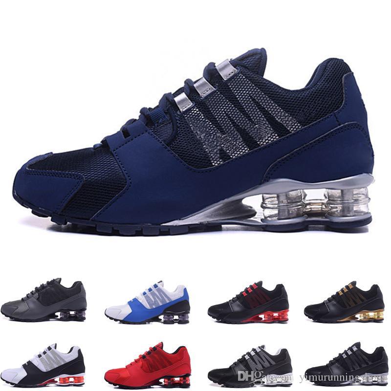 huge discount 9836a f9cdb Compre Shox Avenue 802 803 Para Hombre Zapatillas Deportivas Al Aire Libre Zapatos  Para Caminar Chaussure Homme Shox Nz Hombres Entrenadores De Diseño Tn ...