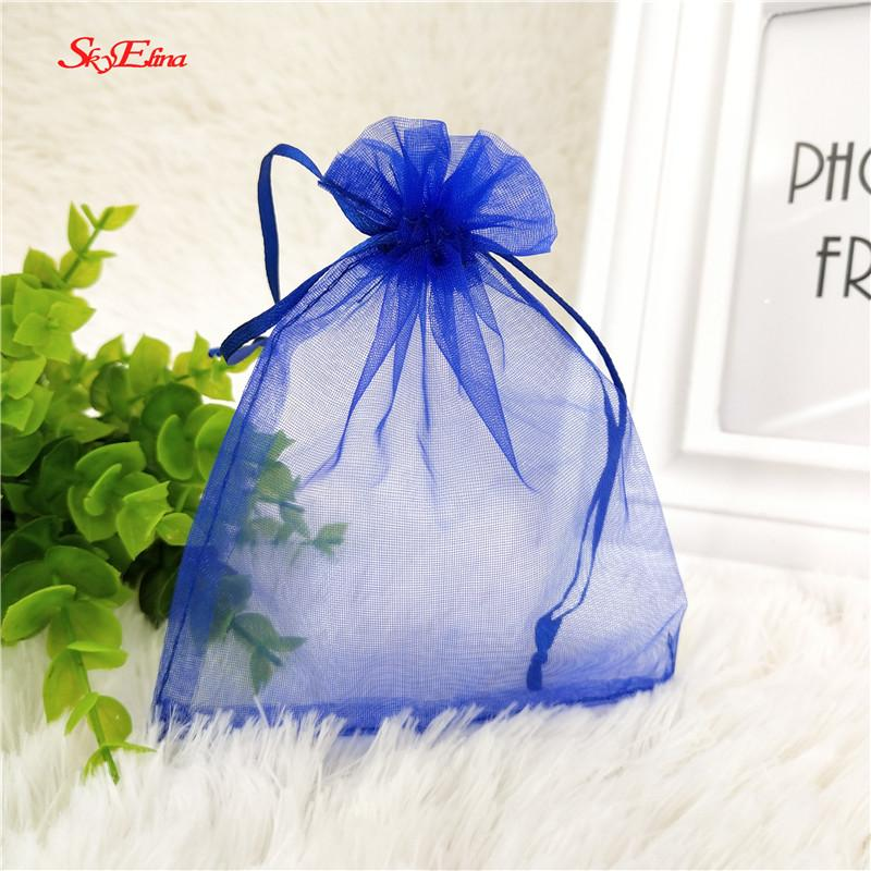 9x12cm organza bag wedding gift bag tulle fabric color jewelry packing Display bag&pouch favor bags 5zSH313