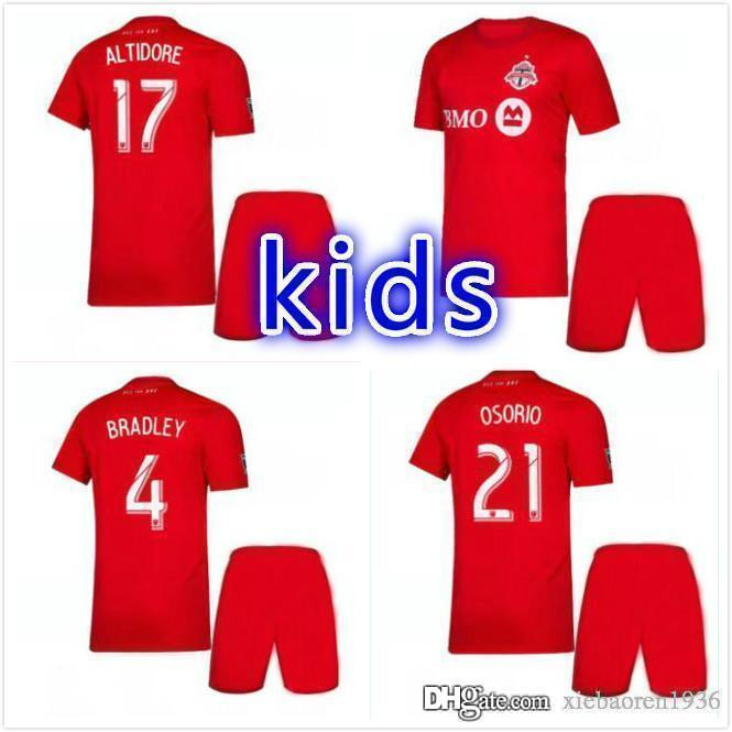 on sale fc4ab 04d7b kids kit 2019 2020 new MLS Toronto FC Away Soccer Jersey 19 20 GIOVINCO  BRADLEY ALTIDORE White Soccer Shirt 2019 Football Jersey Uniform