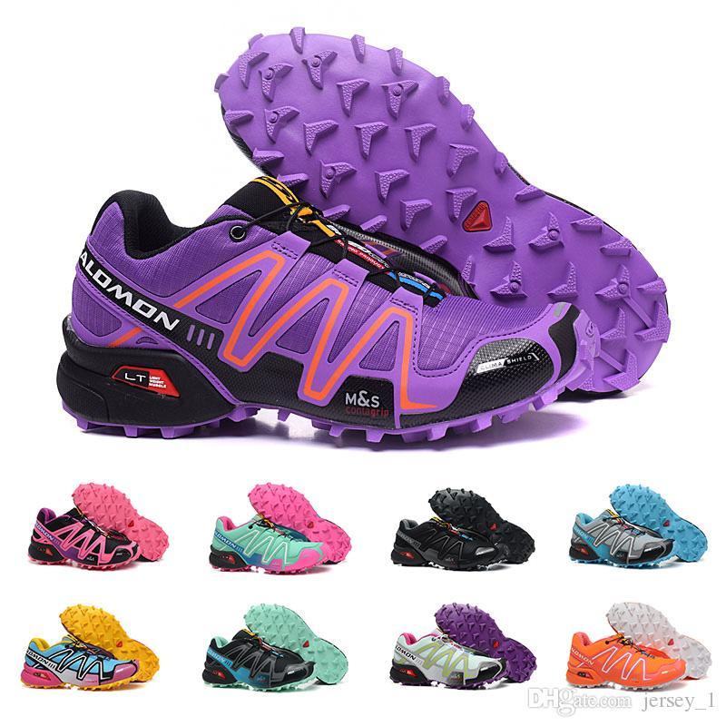 81887f4f6fa Compre Novo Barato Salomon Velocidade Cruz 3 CS III Mulheres Tênis De  Corrida De Alta Qualidade Preto Vermelho Laranja Ao Ar Livre Jogging  Andando Sapato ...