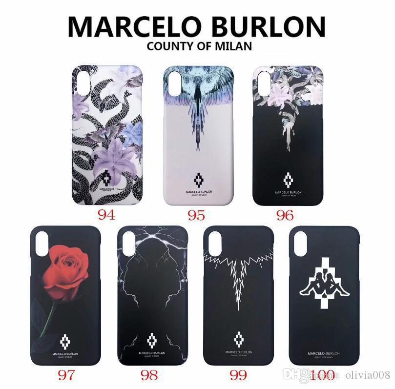 newest 61c10 fd4a4 MARCELO BURLON ANIMAL cellphone case Hard Back Cover For iPhone 6 Plus 7 8  Plus X XS Cell Phone Case