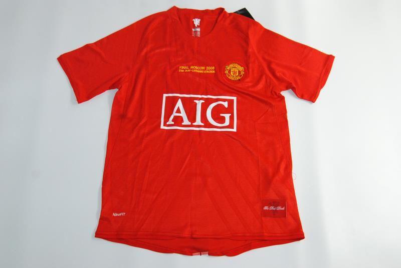 2019 2007 2008 Manchester United Retro UCL Final Match Manutd Home Shorts  Sleeves Jersey RONALDO 07 08 Shirt From Jersey6688 a78d22738d3eb