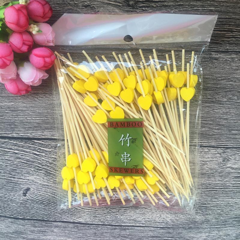 Grosshandel 100 Stuck Herz Bambus Essen Picks Buffet Cupcake Obst