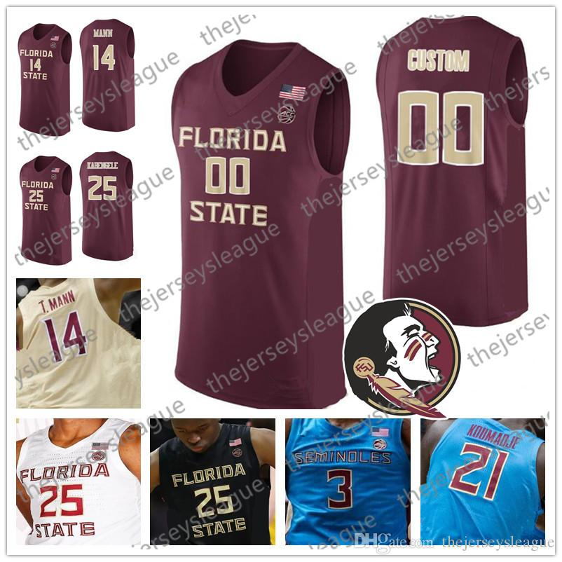 innovative design b24eb 62830 Florida State Seminoles Custom Any Name Number Stitched Red Gold Black  White 2019 FSU NCAA College Basketball Jerseys #4 Ty Hands