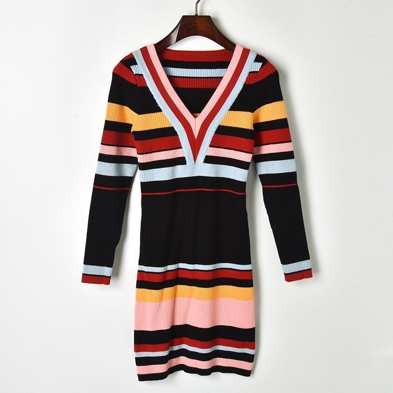d659753deccfb5 Großhandel 2019 Frühjahr Neue Mode Design Wollkleid Exquisite Und Modisch  Hochwertige Pullover Kleid Von Leechanel