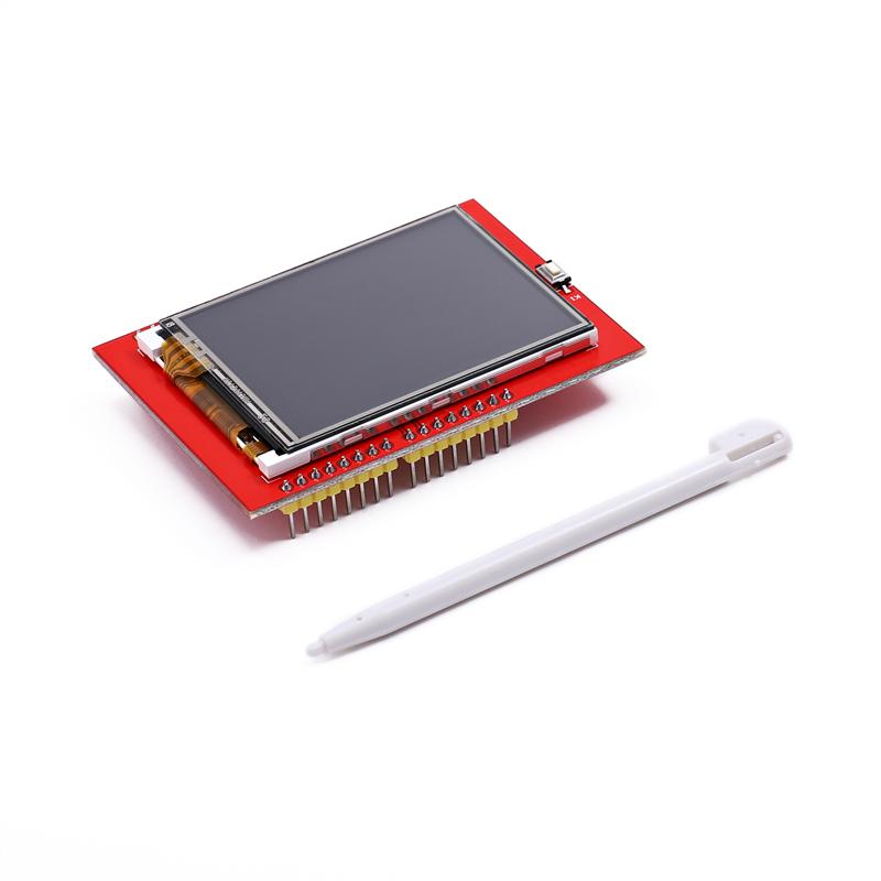 New 1PCS LCD module TFT 2.4 inch TFT LCD screen for Arduino UNO R3 Board and support mega 2560 with Touch pen ,UNO R3