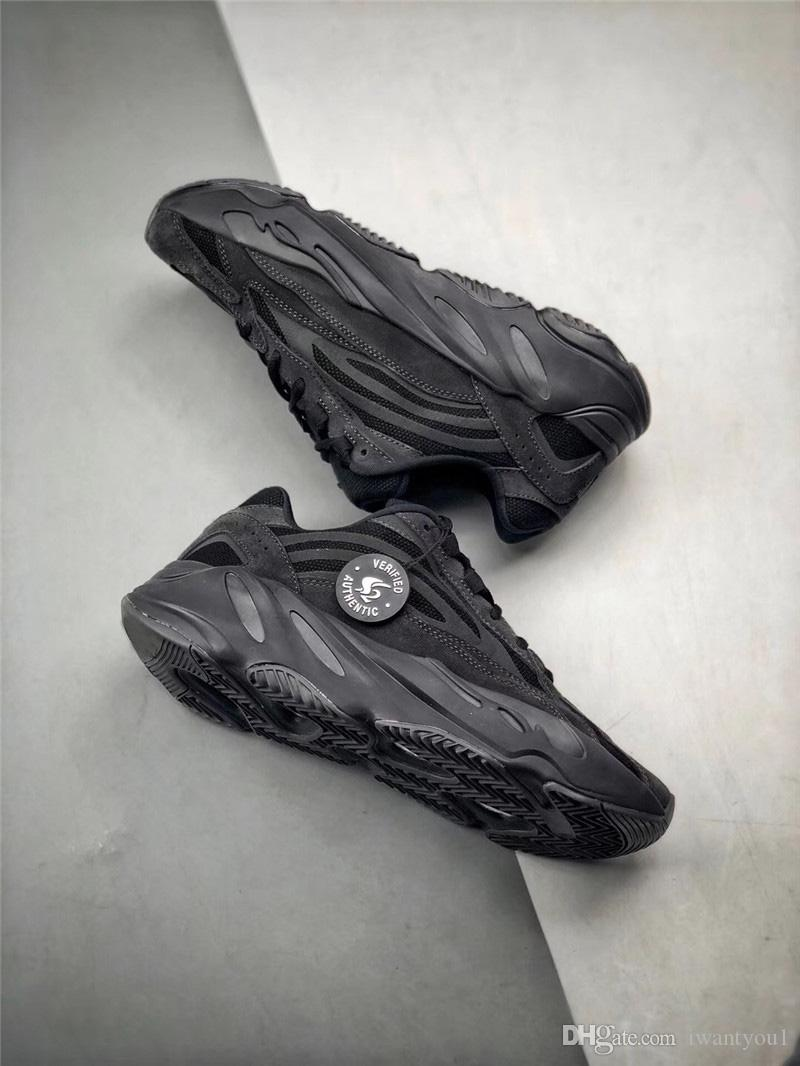 25d86edcd 2019 2019 Authentic Boots 700 V2 Vanta FU6684 Wave Runner Kanye West Black  3M Reflective Running Shoes Men Sneakers Sports With Original Box From  Iwantyou1
