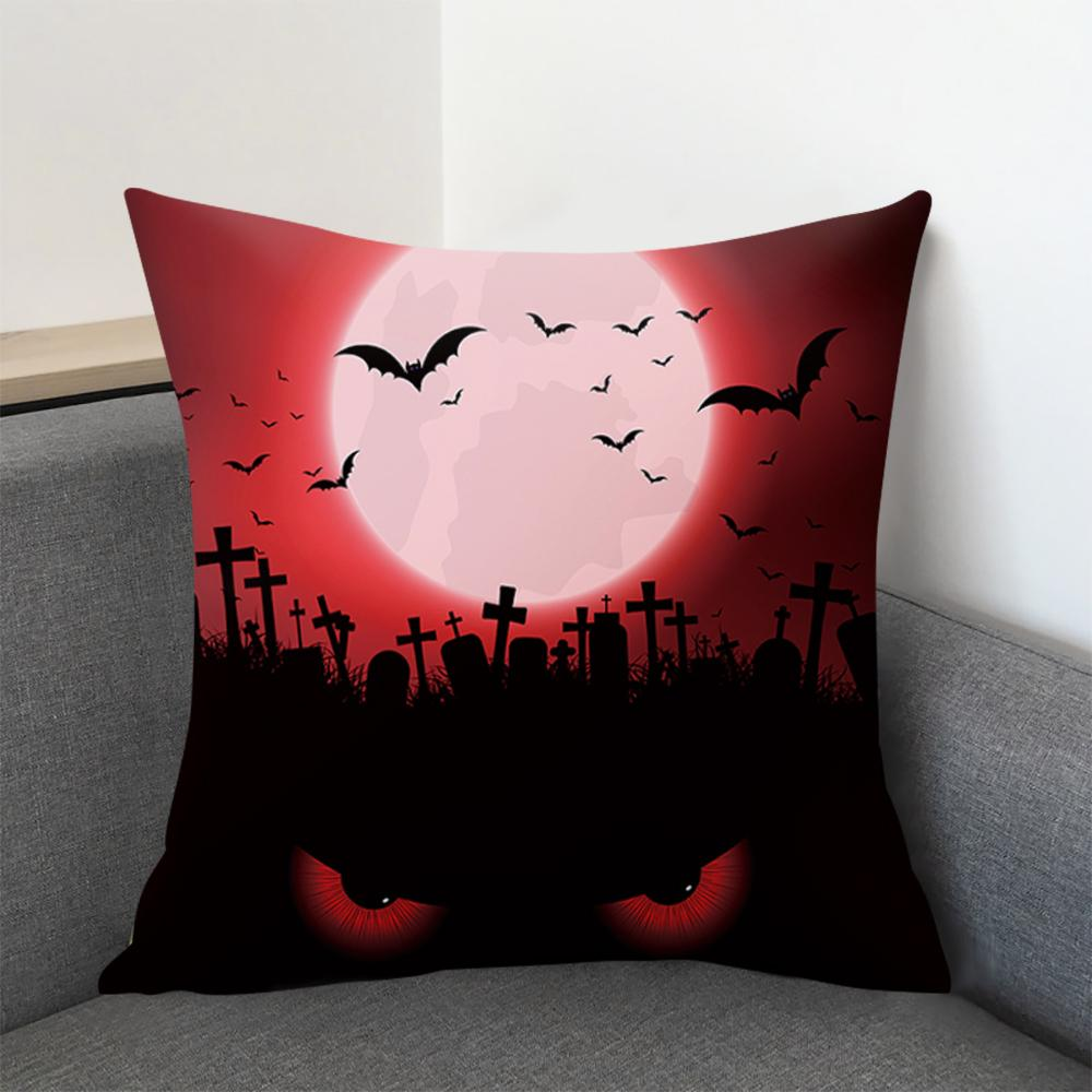 2019 Halloween Cartoon Skull Printed Cushion Cover Pumpkin Before Christmas Decorative Sofa Car Chair Home Decor Pillow Case